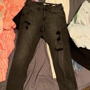 black rockstart jeans